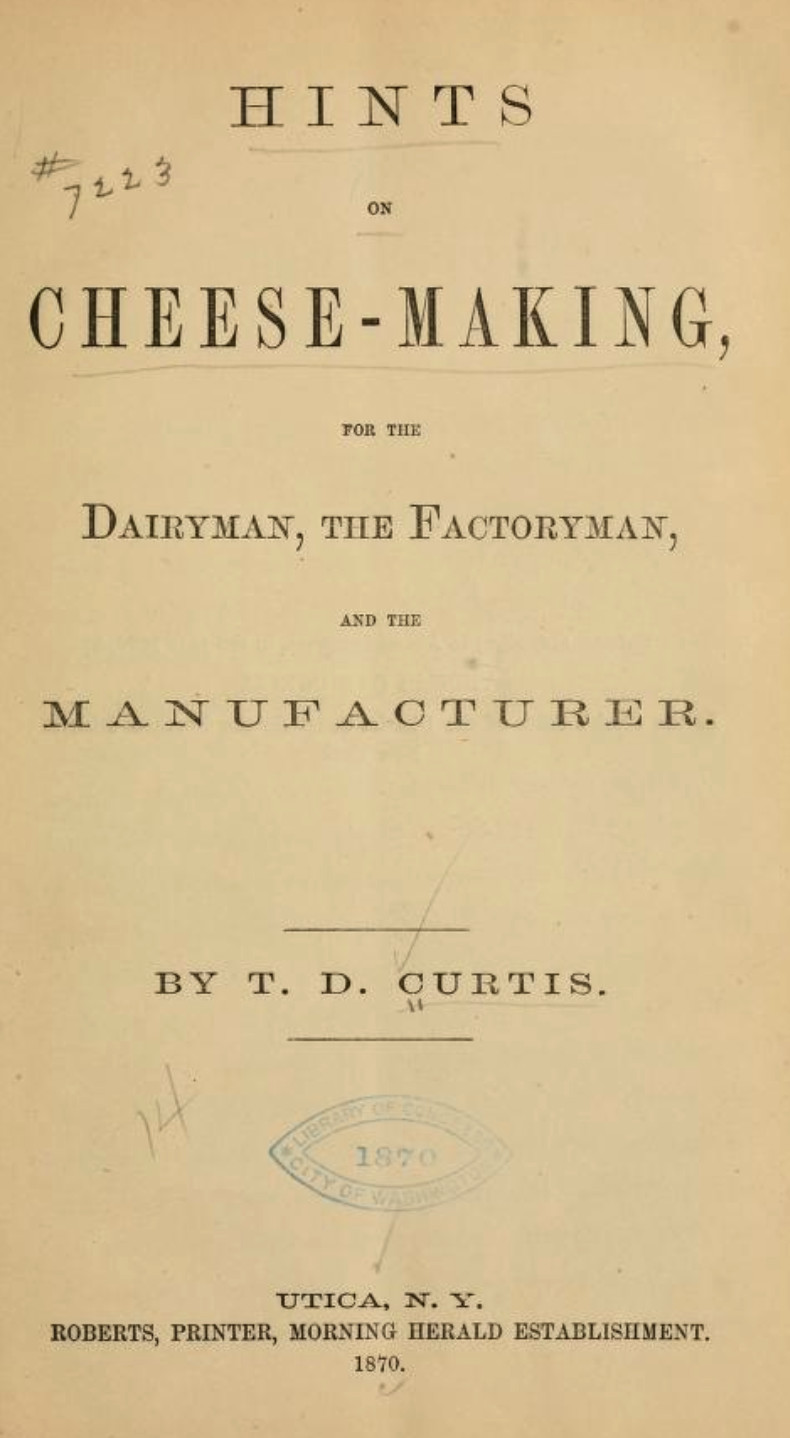 Old school cover for an antique cheese making guide
